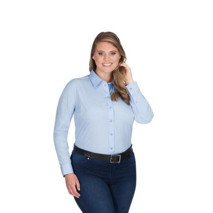 Business Langarm-Bluse Workwear Plus Size Damen