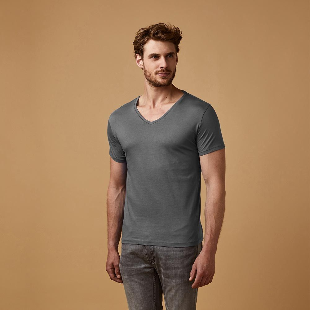 v neck t shirt f r herren x o by promodoro we are casual. Black Bedroom Furniture Sets. Home Design Ideas