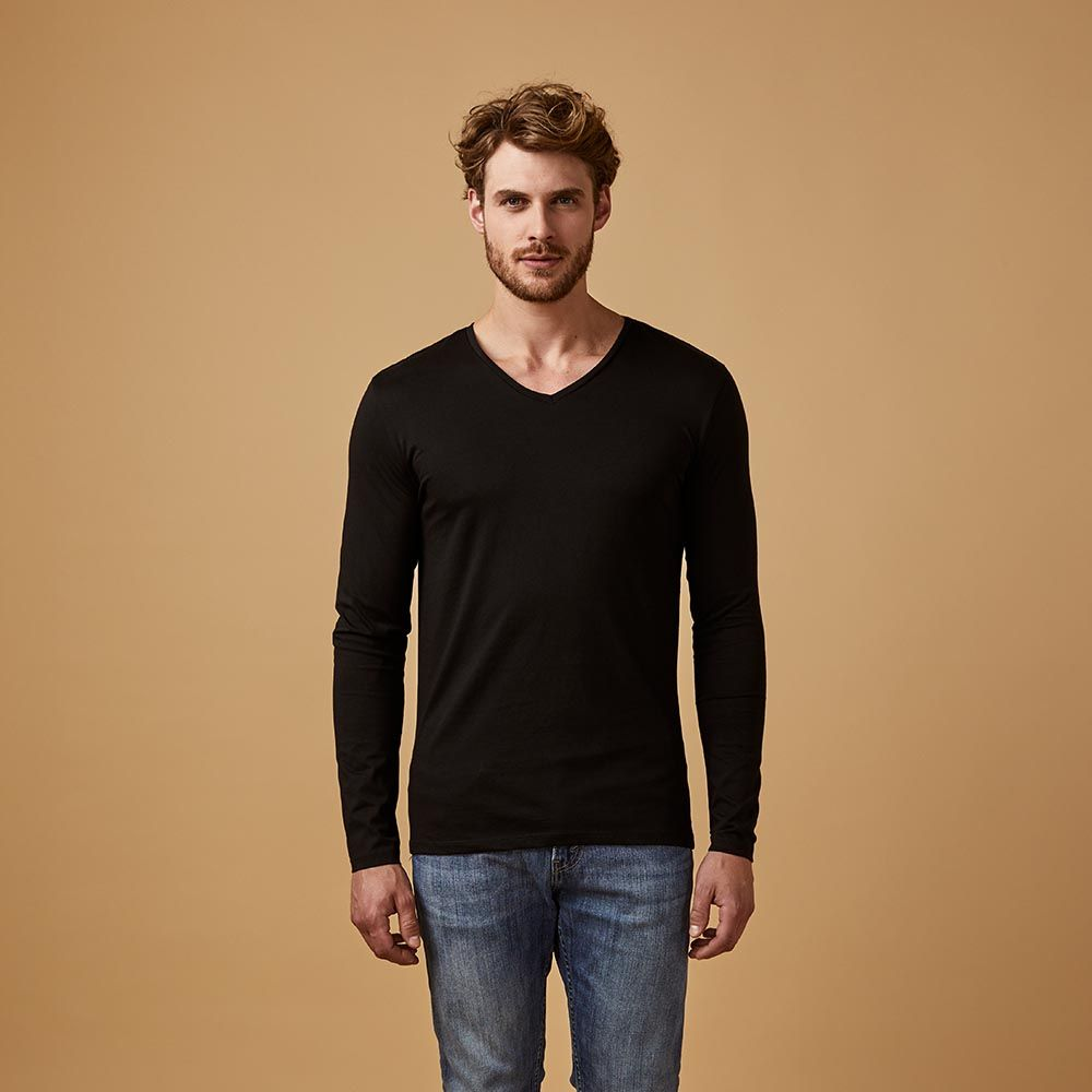 v neck longsleeve f r herren x o by promodoro we are