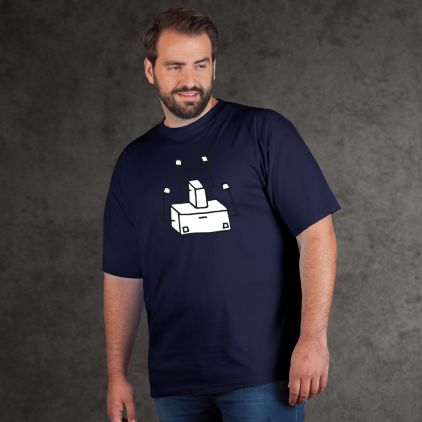 "Print ""Out-of-order Robot"" - Herren Premium T-Shirt Plus Size"