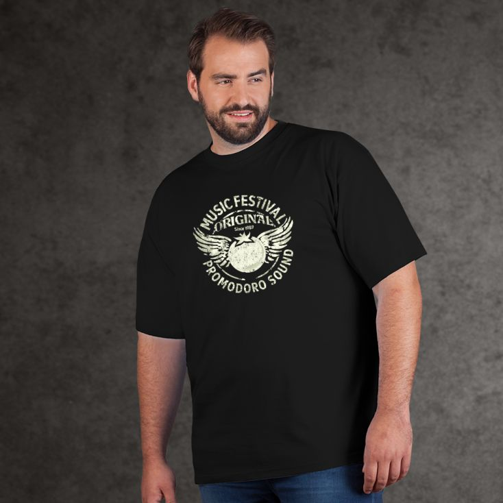 "Print ""promodoro sound"" Premium T-shirt Plus Size Men"