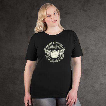 "Print ""promodoro sound"" Premium T-Shirt Plus Size Damen"