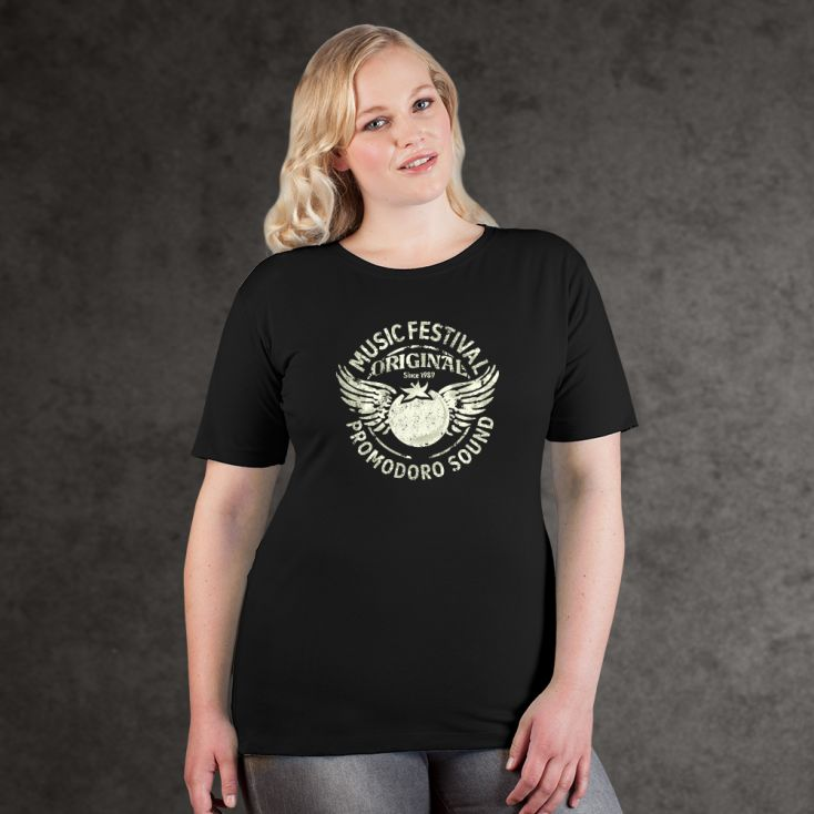 "Print ""promodoro sound"" Premium T-shirt Plus Size Women"