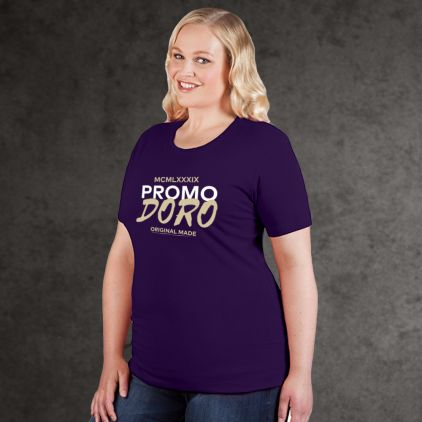 "Print ""promodoro original made"" Organic T-shirt Plus Size Women"