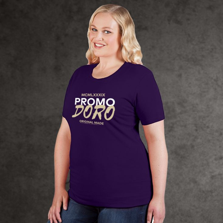 "Print ""promodoro original made"" Organic T-shirt Plus Size Women"