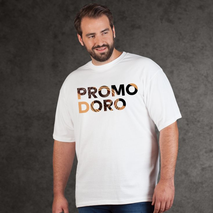 "Print ""promodoro guitar"" Premium T-Shirt Plus Size Herren"