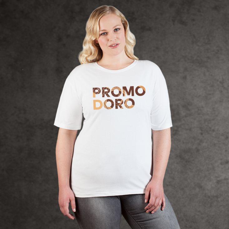 "Print ""promodoro guitar"" Premium T-Shirt Plus Size Damen"