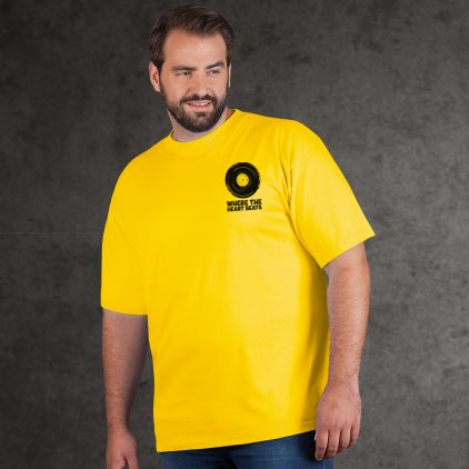 "Print ""promodoro heart beats"" premium t-shirt Plus Size Men"