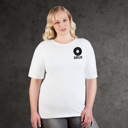 "Print ""promodoro heart beats"" premium t-shirt Plus Size Women"