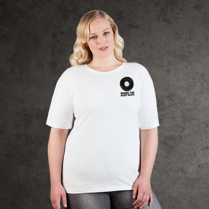 "Print ""promodoro heart beats"" premium t-shirt Plus Size Women"