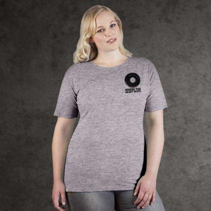 "Print ""promodoro heart beats"" Premium T-Shirt Plus Size Damen"
