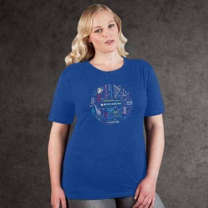 "Print ""promodoro orchestra"" T-shirt premium grandes tailles Femmes"