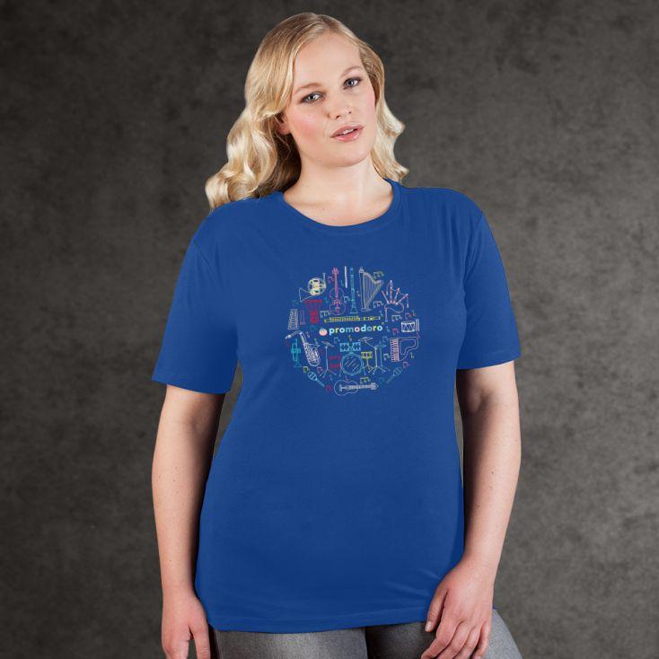 "Print ""promodoro orchestra"" premium t-shirt Plus Size Women"
