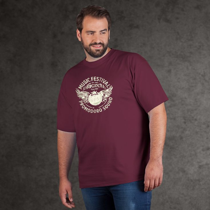 "Print ""promodoro sound"" Premium T-shirt Plus Size Men"