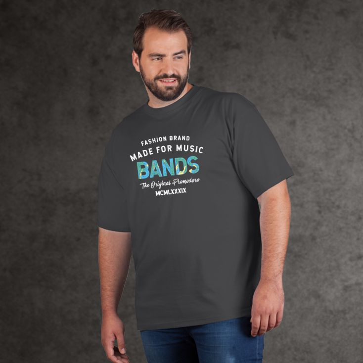 "Print ""promodoro made for music bands"" premium t-shirt Plus Size Men"