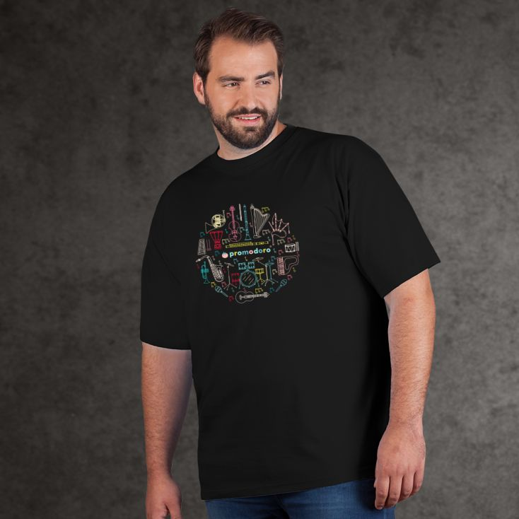 "Print ""promodoro orchestra"" Premium T-Shirt Plus Size Herren"