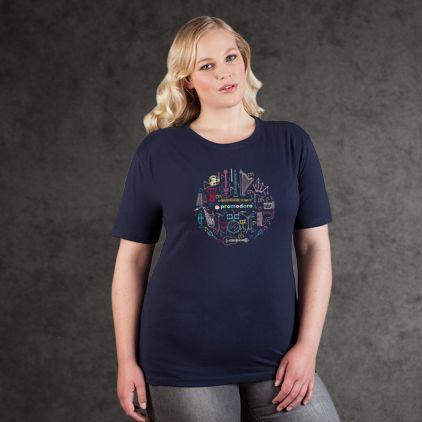 "Print ""promodoro orchestra"" Premium T-Shirt Plus Size Damen"