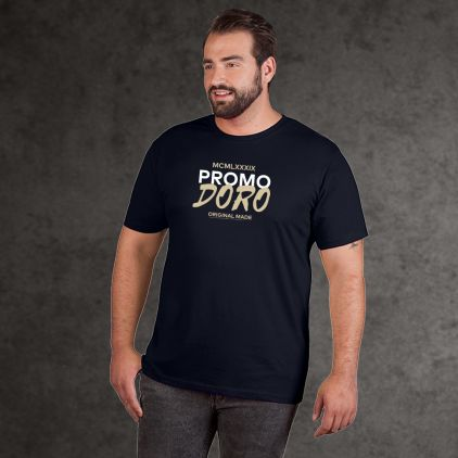 "Print ""promodoro original made"" Bio T-Shirt Plus Size Herren"