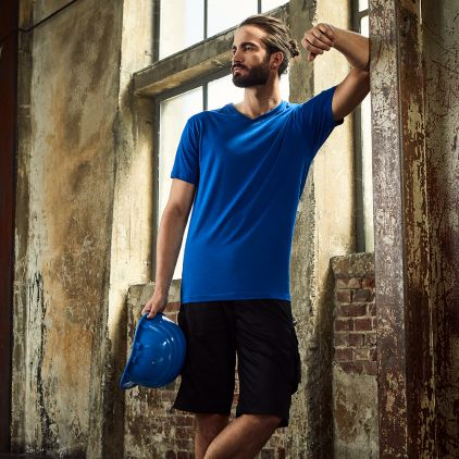 T-shirt Premium col V workwear Hommes