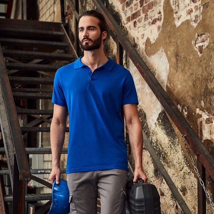 Jersey Poloshirt Workwear Herren