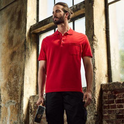 Heavy Poloshirt mit Brusttasche Workwear Herren