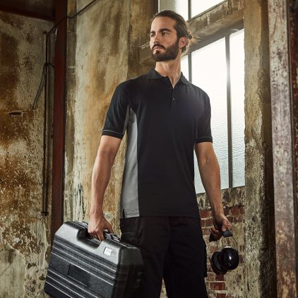 Funktions Kontrast Poloshirt Workwear Herren