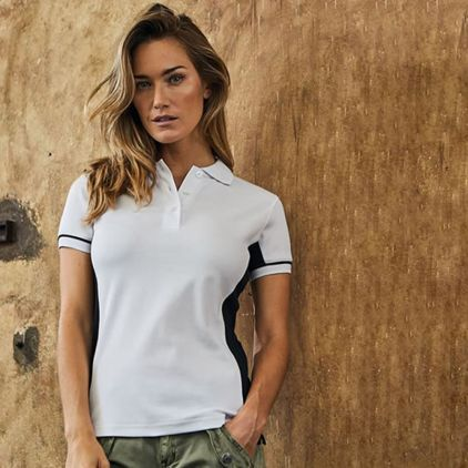 Funktions Kontrast Poloshirt workwear Damen