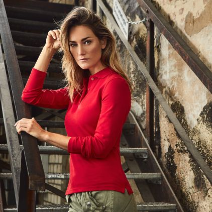 Heavy Langarm-Poloshirt Workwear Damen