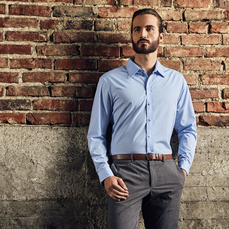 Business Langarm-Hemd Workwear Herren