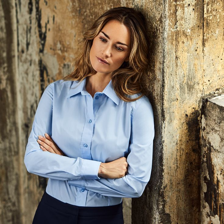 Business Langarm-Bluse Workwear Damen