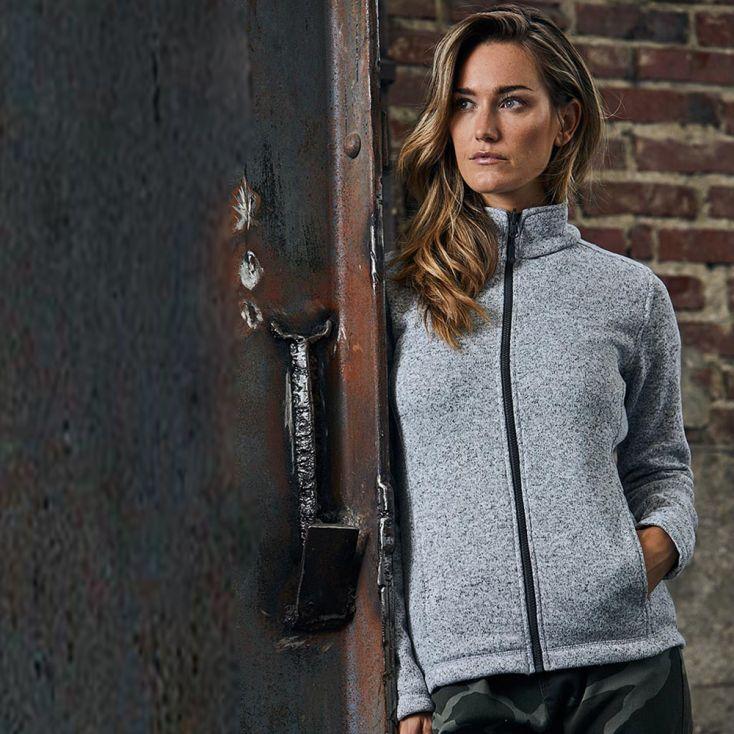 Strick-Fleece Jacke C+ Workwear Damen