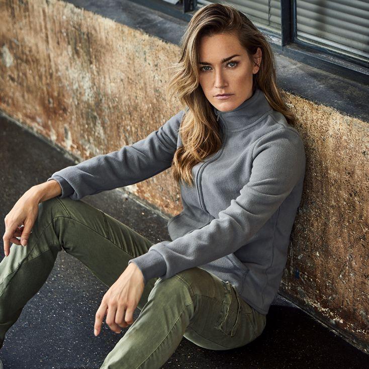 Doppel-Fleece Jacke Workwear Damen