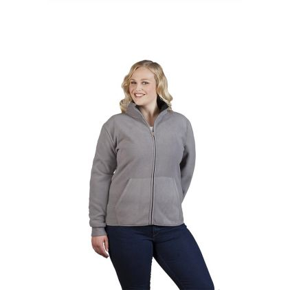Double Fleece Jacket Workwear Plus Size Women
