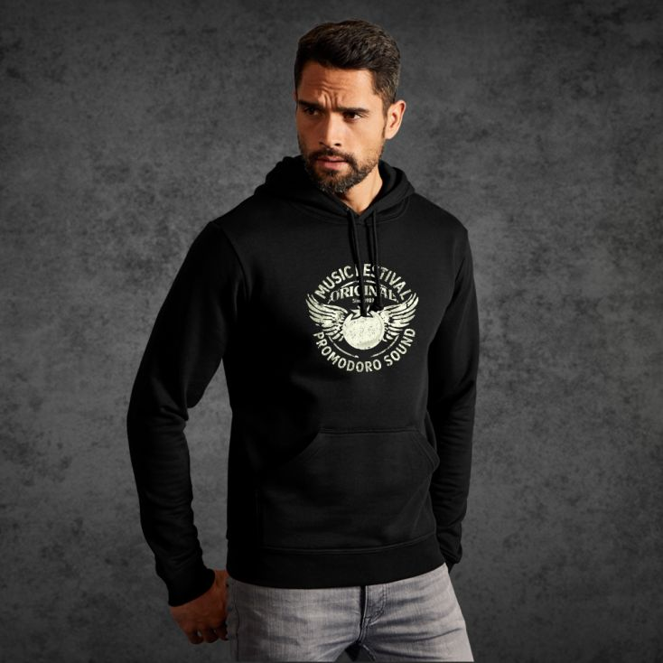 "Print ""promodoro sound"" Sweat à Capuche basic hommes"