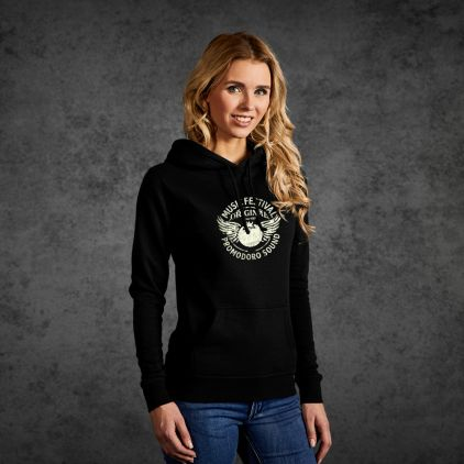 "Print ""promodoro sound"" Sweat à Capuche basic femmes"