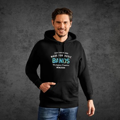 "Print ""promodoro made for music bands"" Sweat à Capuche Épais Hommes"