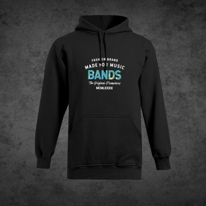 "Print ""promodoro made for music bands"" Sweat Capuche Épais grandes tailles Hommes"