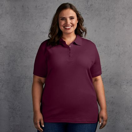 Interlock Poloshirt Plus Size Damen