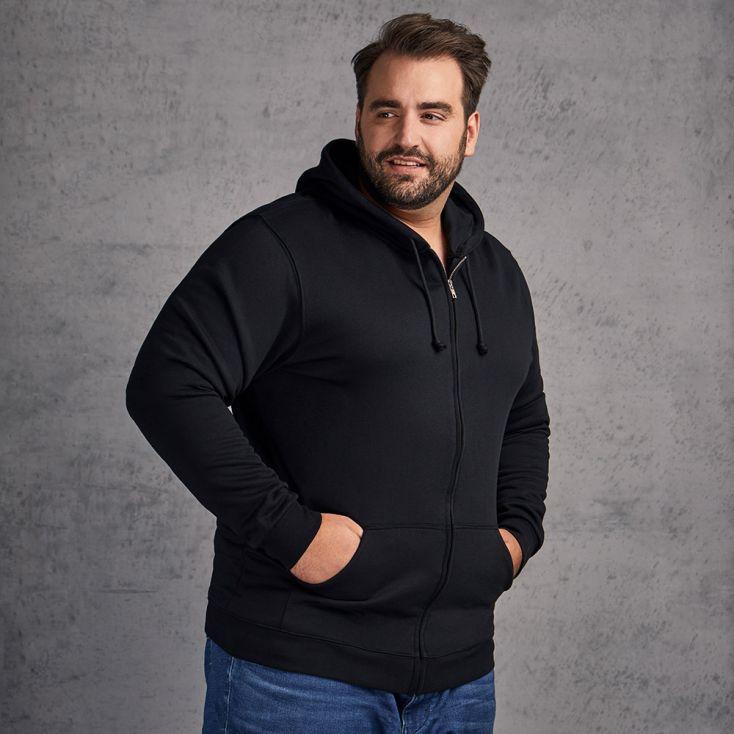 Veste sweat capuche zippée coton grande taille Hommes