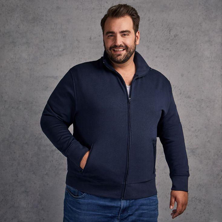 Stehkragen Zip Jacke Plus Size Herren