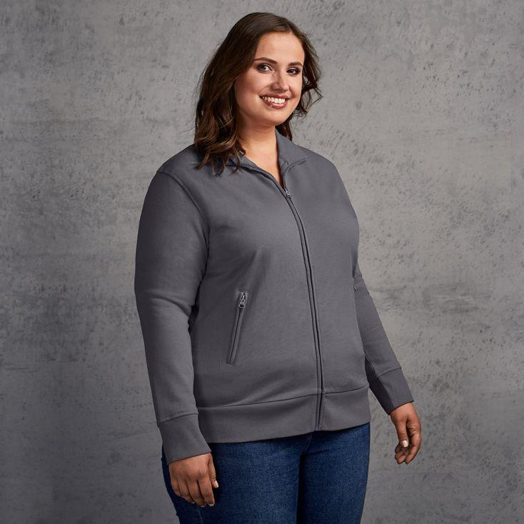 Stehkragen Zip Jacke Plus Size Damen