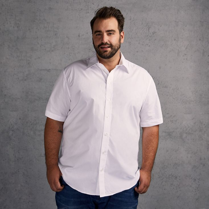 Business Shortsleeve shirt Plus Size Men