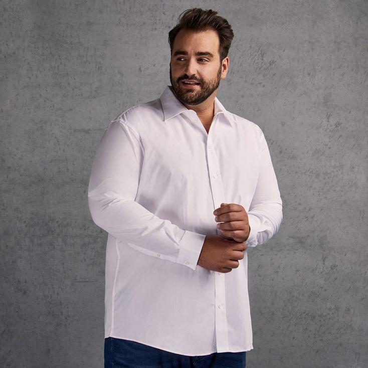 Business Langarm-Hemd Plus Size Herren