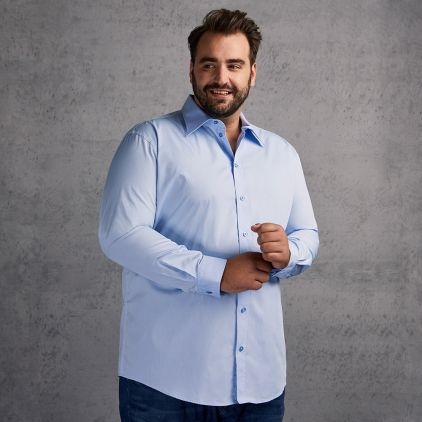Business Langarm-Hemd Plus Size Herren
