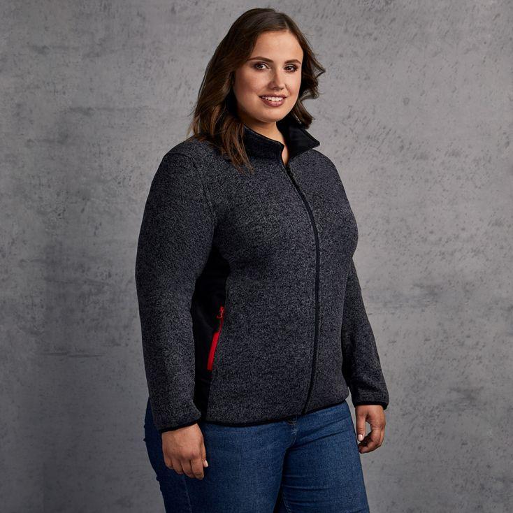Knit Jacket Workwear Plus Size Women