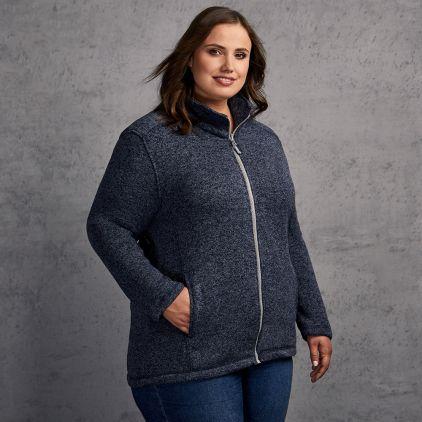 Knit fleece Jacket C+ Plus Size Women