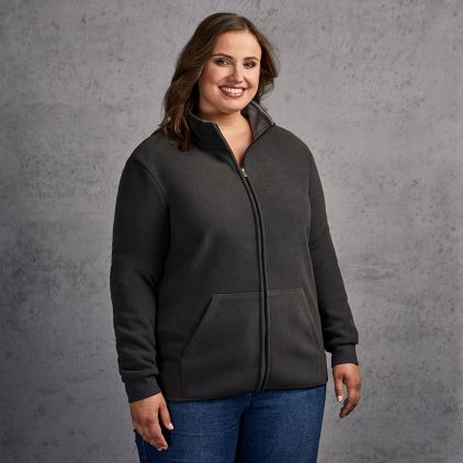 Doppel-Fleece Jacke Plus Size Damen