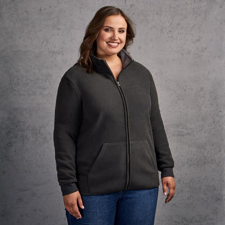 Double Fleece Jacket Plus Size Women