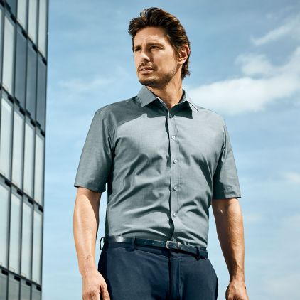 Chemise Oxford Manches Courtes Hommes