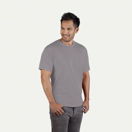 Premium V-Ausschnitt T-Shirt Herren Sale